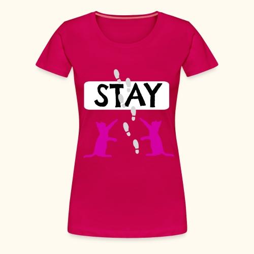 Cat Stay - Katze im Cartoon Stil III - Frauen Premium T-Shirt