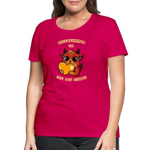 Willkommen im Tal des Todes Gelb - Frauen Premium T-Shirt