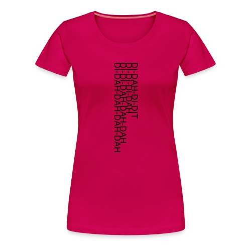 LV21 MORSE TEXT CLOSE VERT - Women's Premium T-Shirt