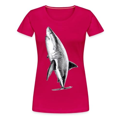 Gran tiburón blanco - Great white shark - Camiseta premium mujer