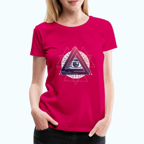 All-seeing eye triangle magic - Women's Premium T-Shirt