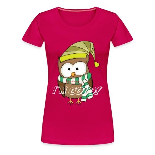 Eule, Kauz, Uhu, Vogel, - Frauen Premium T-Shirt