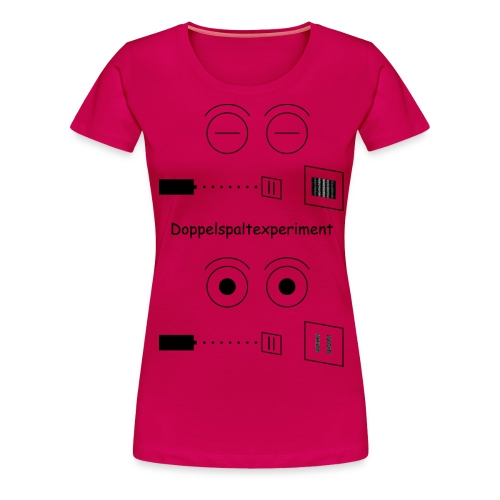 Doppelspalt-Experiment - Frauen Premium T-Shirt
