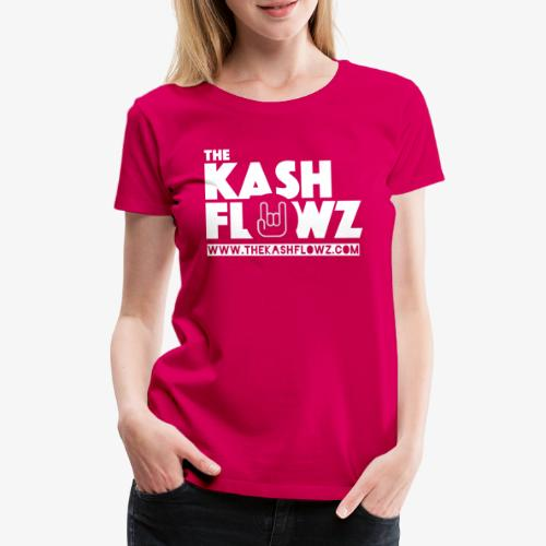 The Kash Flowz Official Web Site White - T-shirt Premium Femme