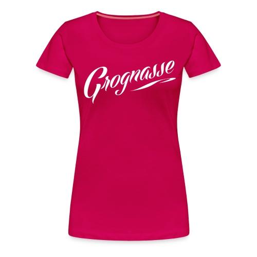 GROGNASSE BLANC - T-shirt Premium Femme