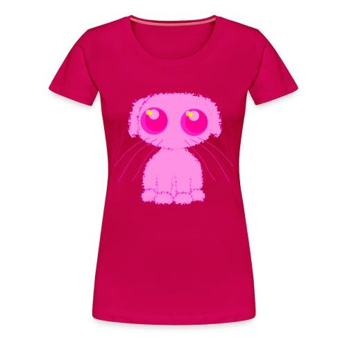 lurvig neonrosa kawaii anime doodle hund - Women's Premium T-Shirt