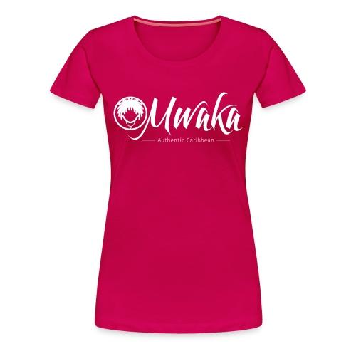Logo Mwaka Blanc - T-shirt Premium Femme