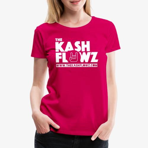 The Kash Flowz Official Web Site White - T-shirt Premium Femme