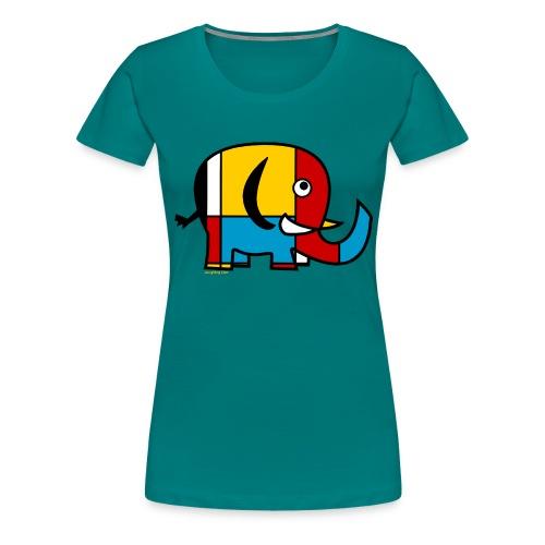 Mondrian Elephant - Women's Premium T-Shirt