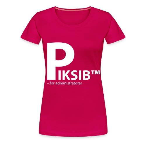 piksib adm black - Premium T-skjorte for kvinner