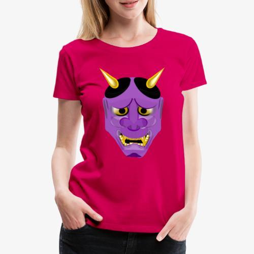 Demon Mask Purple - Women's Premium T-Shirt