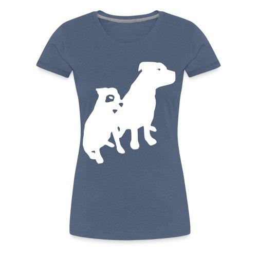 Doggy / zwei brave Hunde zum verschenken - Frauen Premium T-Shirt