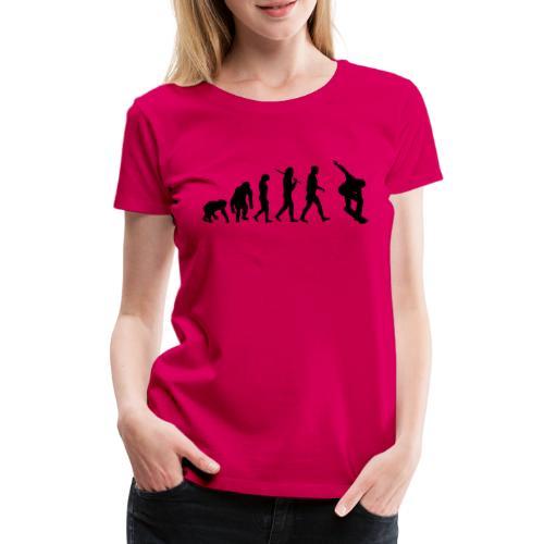 evolution_of_snowboarding - Vrouwen Premium T-shirt