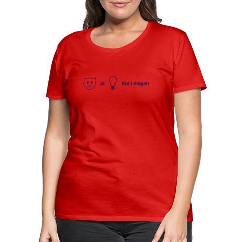 Katt åt lampa - Premium-T-shirt dam