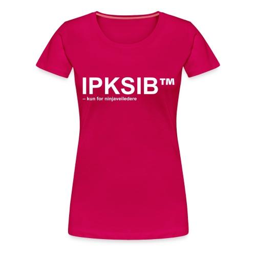 ipksip black - Premium T-skjorte for kvinner