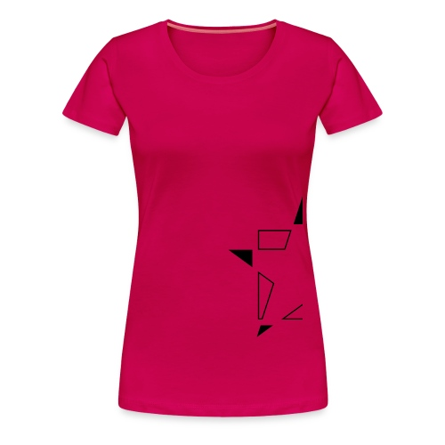 Minimal Star half Black and White - Frauen Premium T-Shirt