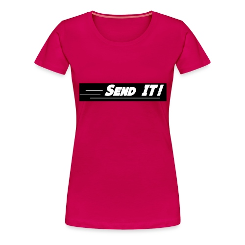 send it logo black and white - Women's Premium T-Shirt