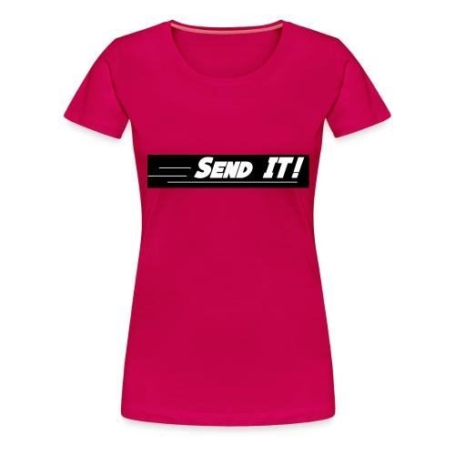 send it logo black and white - Women's Premium T-Shirt