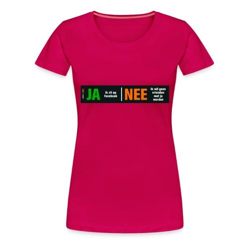 facebookvrienden - Vrouwen Premium T-shirt
