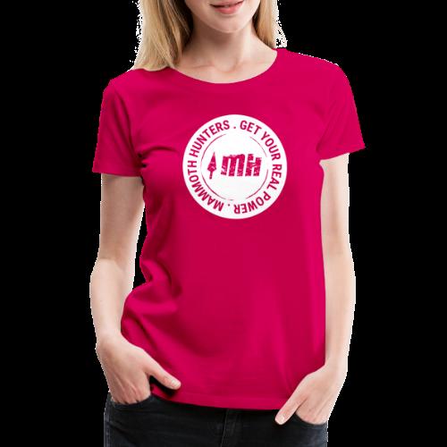 Mammoth Hunters / Círculo completo blanco - Camiseta premium mujer