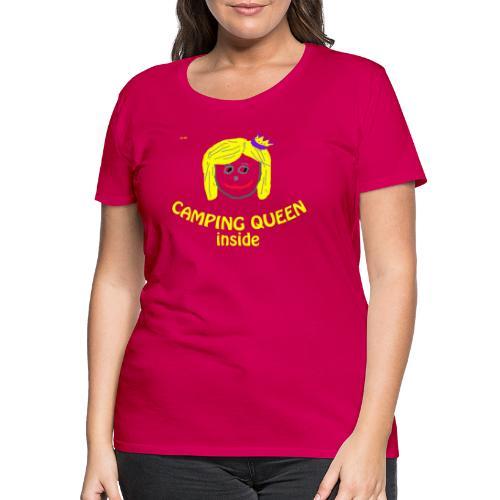 campingqueen gif - Frauen Premium T-Shirt