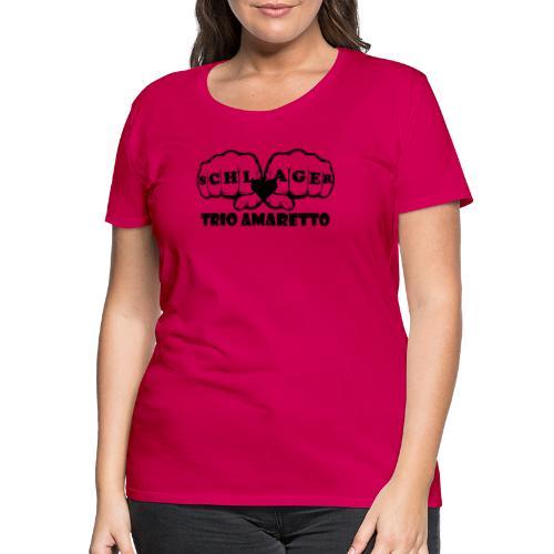 Black Print Trio Amaretto - Frauen Premium T-Shirt