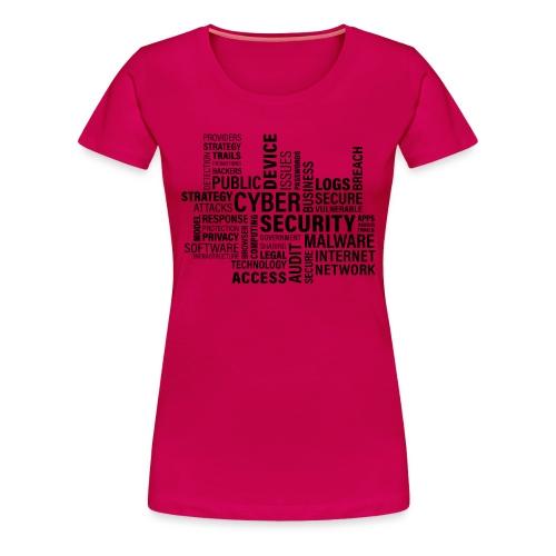 cyber security text print - Dame premium T-shirt