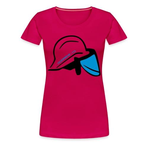 Feuerwehr Helm - Frauen Premium T-Shirt