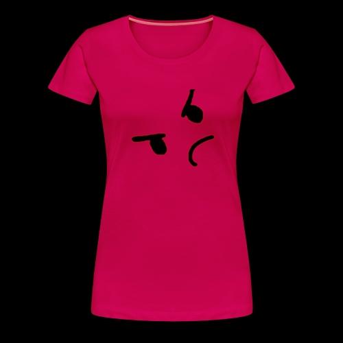 Angery face - Vrouwen Premium T-shirt