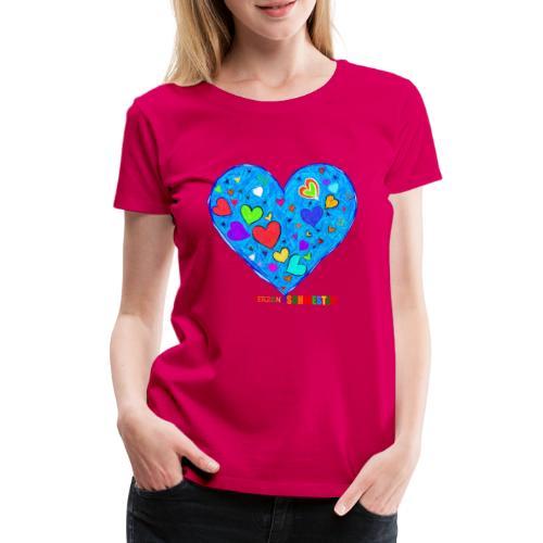 HerzensSchwester - Frauen Premium T-Shirt