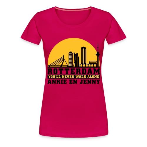 Skyline rotterdam 04 - Vrouwen Premium T-shirt