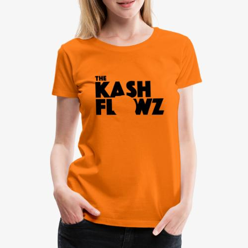 The Kash Flowz Official Black - T-shirt Premium Femme