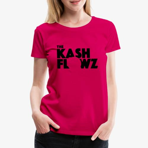 The Kash Flowz Official Black - T-shirt Premium Femme