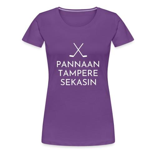 tampere valkoinen - Naisten premium t-paita