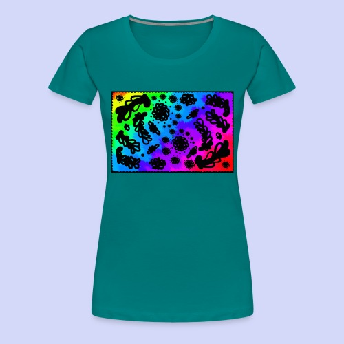 Rainbow doodle - Female shirt - Dame premium T-shirt