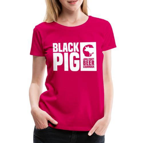 BlackPig Horizontal Blanc - T-shirt Premium Femme