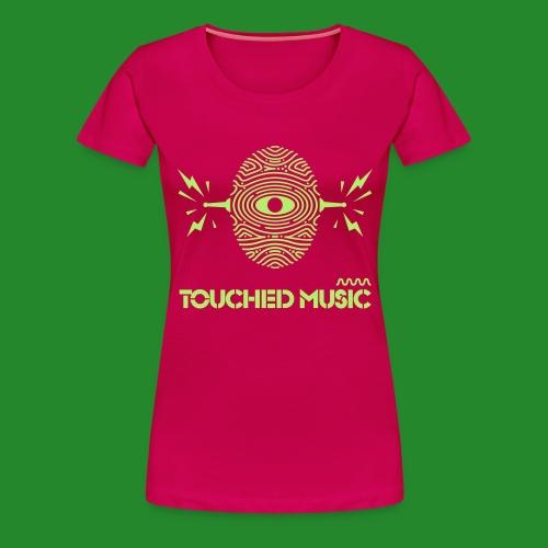 Touched Logo Orange and Navy - Women's Premium T-Shirt