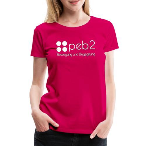 Logo peb2 weiss - Frauen Premium T-Shirt