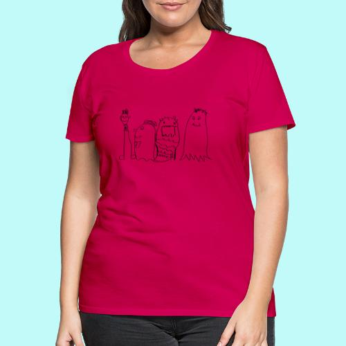 4 Geister - Frauen Premium T-Shirt