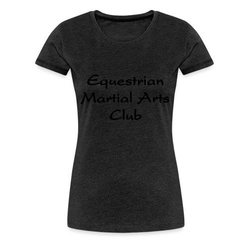EMAC_logo_teksti - Naisten premium t-paita