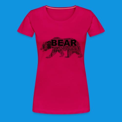 Bear Word Cloud black text - Women's Premium T-Shirt