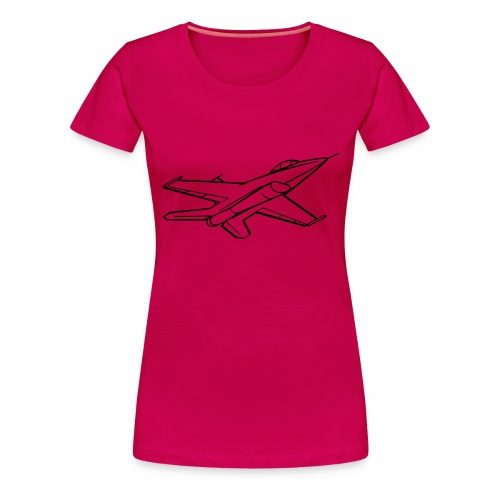f16 falcon right bw - Vrouwen Premium T-shirt