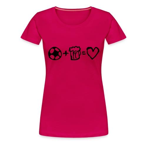football+beer=love - Premium-T-shirt dam