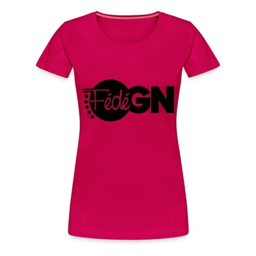 Logo FédéGN pantone - T-shirt Premium Femme