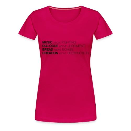 slogan png - Vrouwen Premium T-shirt