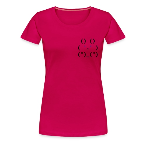 ascii_bunny - Vrouwen Premium T-shirt