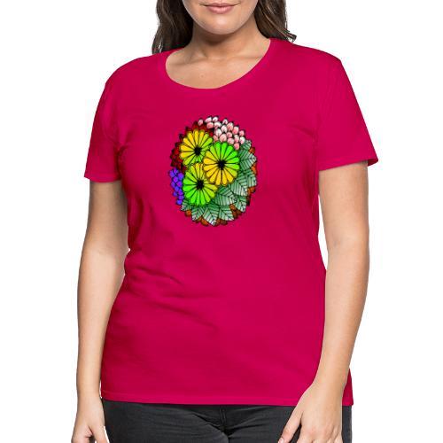 Mandala Blumen Design - Frauen Premium T-Shirt