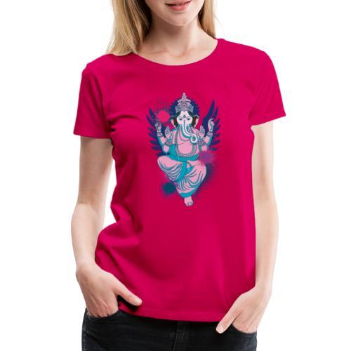 Ganesha dein Glücksgott macht den WEG frei - Frauen Premium T-Shirt