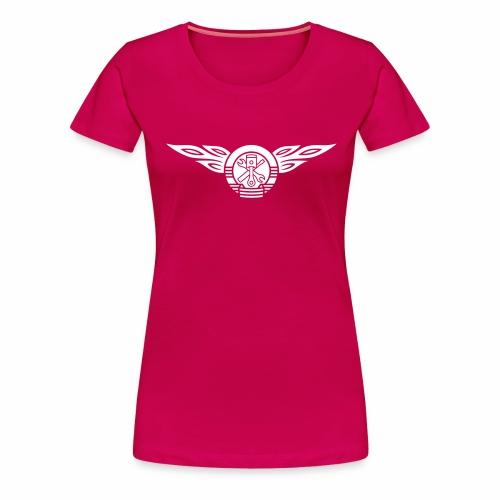 Car flames crest 1c - Women's Premium T-Shirt