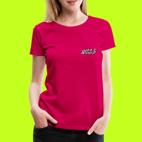 WZZS BIAŁE LOGO - Koszulka damska Premium